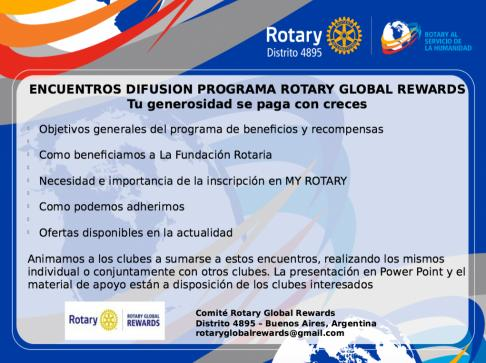 Encuentros Rotary Global Rewards
