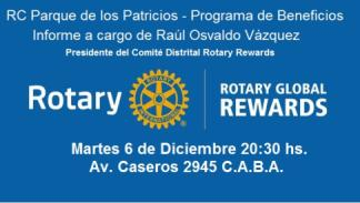 Charla sobre Rotary Global Rewards