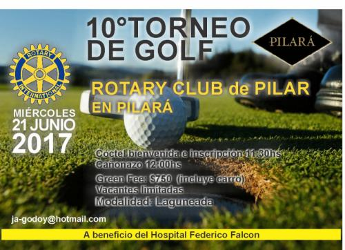 Flyer 10º Torneo de Golf
