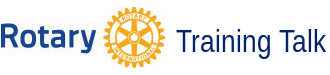 Logo Rotary Training Talk
