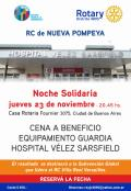 Cena a beneficio Hospital Velez Sarsfield