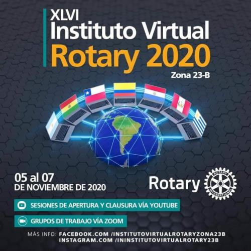 Flyer XLVI Instituto Virtual Rotary 2020