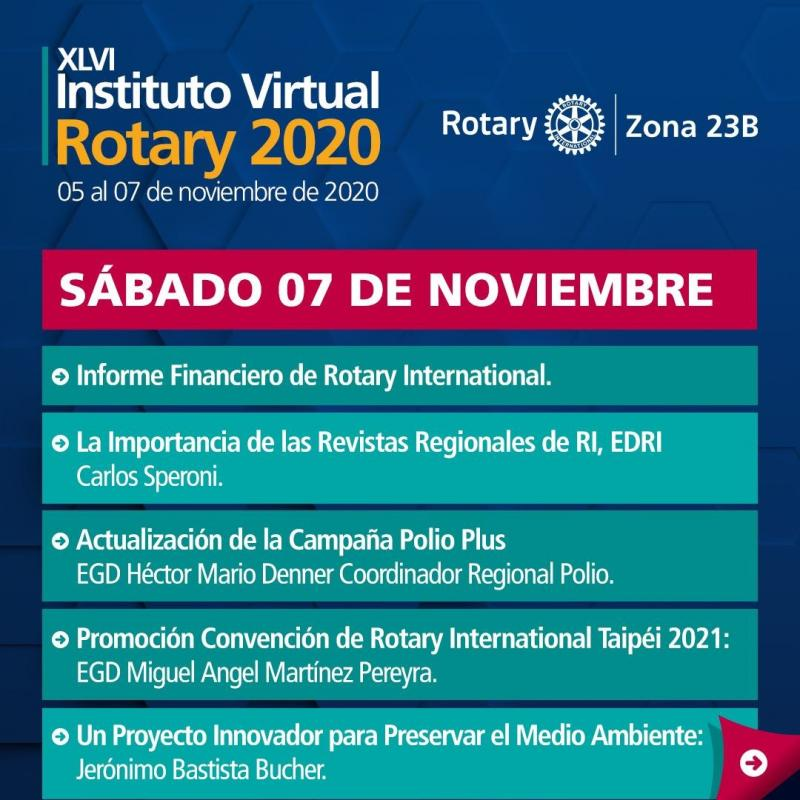 XLVI Instituto Virtual Rotary 2020 Z23B